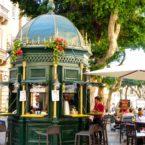 Decorated coffee stall, Valletta, Malta