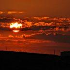 Maltese sunset from hotel balcony