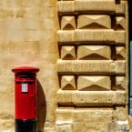 Red pillar box, Valletta, Malta