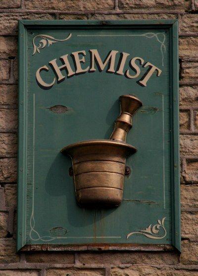 Chemist sign Hayfield